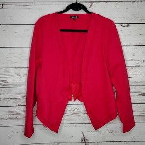 Torrid Ponte Cutaway Blazer in Hot Pink